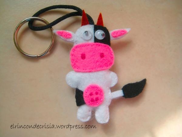LLavero de vaca de cuerpo entero, para llevar tus llaves, 3 €